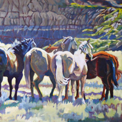 Among Friends by Landscape, Western, Equine