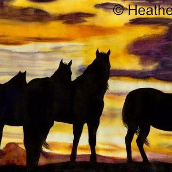SouthAlta Silouette - By Canadian Artist Heather Dodd