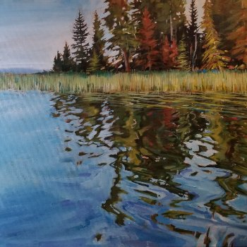 Where the Water Dances - By Canadian Artist Holly Dyrland