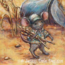 Harvest Mouse by Illustration, Western, Whimsical