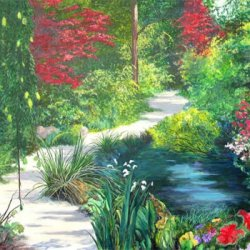 Canadian artists online artists gallery art in canada Deniece williams i come to the garden alone
