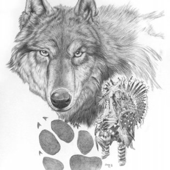Wolf Stalker - By Canadian Artist Nona Foster