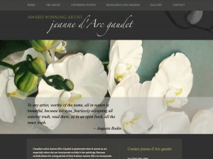 Jeanne d'Arc Gaudet Artist Custom Design Website