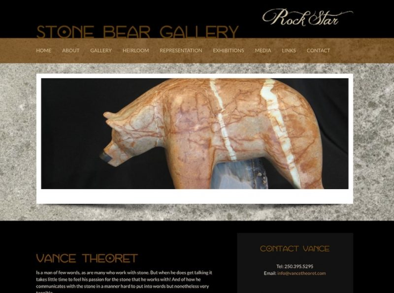 Art Website for Vance Theoret