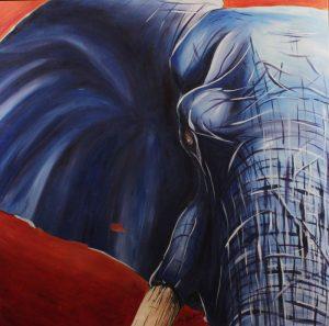 Neil Assenheimer Art - Blue Elephant